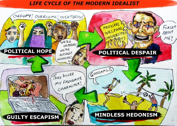 The cyclical nature of hope, despair and hedonism is confirmed in a new pictorial study.